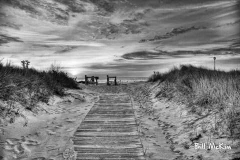 spring lake nj beach path artwork by bill mckim
