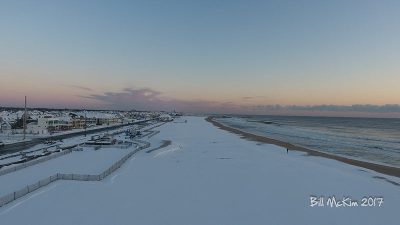 snow covered beach new jersey asbury park