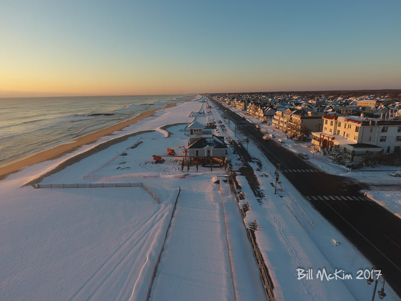 snow covered beach new jersey