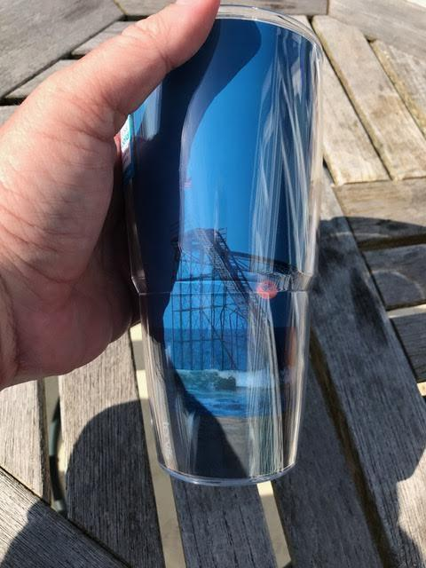 24 oz Tervis Tumbler by Bill McKim Jet Star Rollercoaster Fullmoon Design - Bill McKim Photography -Jersey Shore whale watch tours