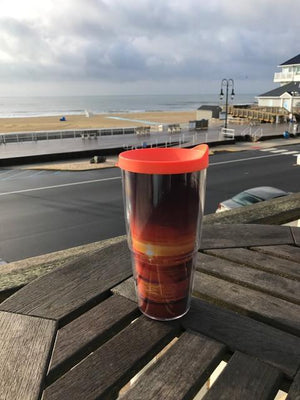 Jersey Shore 24 oz Travel Mug with lid - Bill McKim artwork Photography Jersey shore wallart