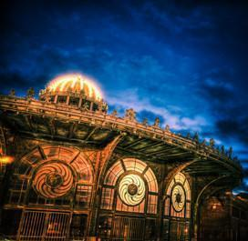 Asbury Park Blue Sky Carousel - Bill McKim Photography -Jersey Shore whale watch tours
