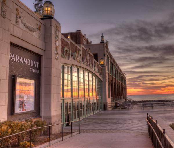 Asbury Park Paramount Theater Sunrise artwork - Bill McKim Photography -Jersey Shore whale watch tours