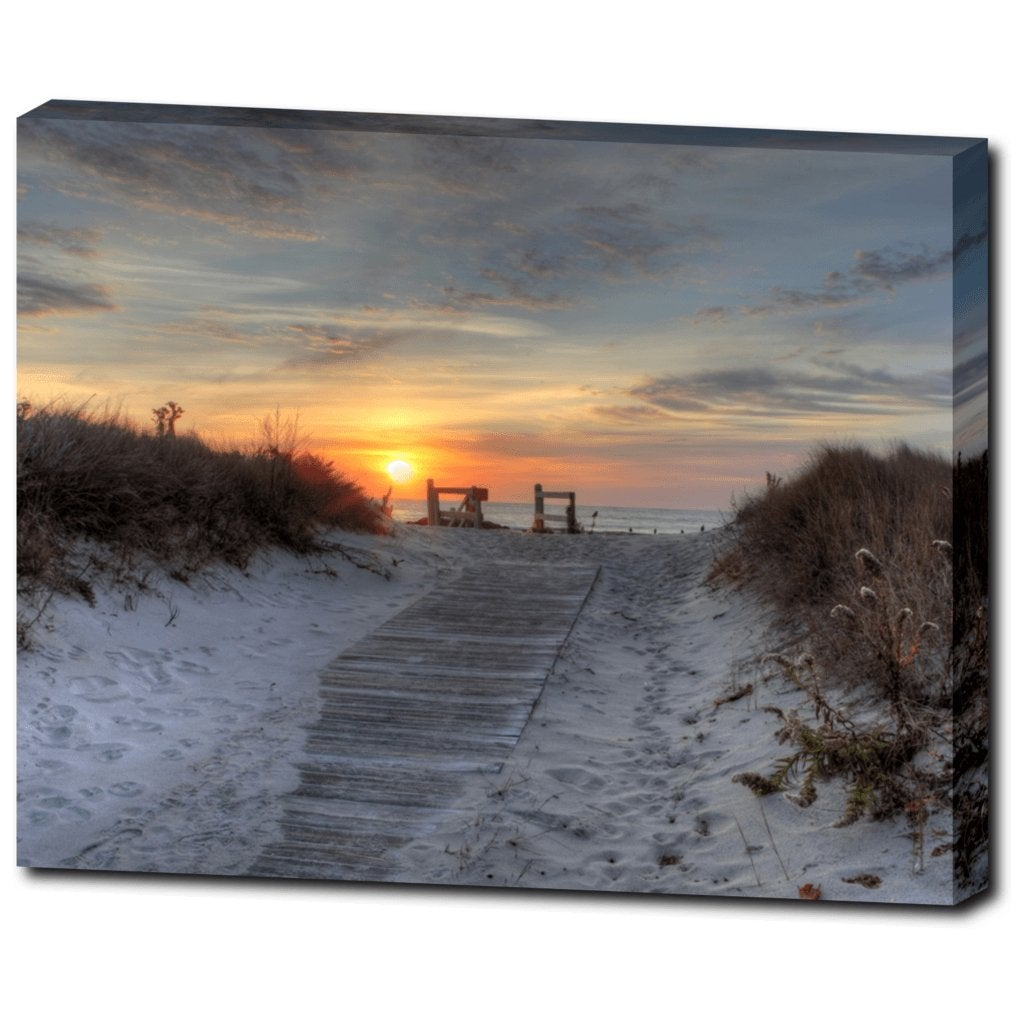 Beach Path Gallery Wrap - Bill McKim Photography -Jersey Shore whale watch tours