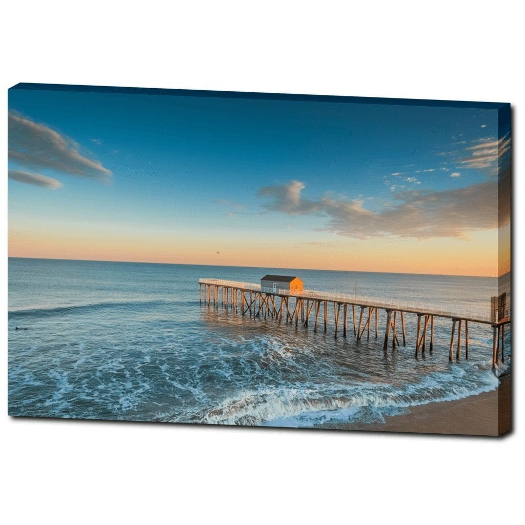 Belmar Fishing Pier 2017 Canvas Gallery Wrap - Bill McKim Photography -Jersey Shore whale watch tours