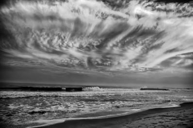 Black and White Clouds over the Jersey Shore - Bill McKim Photography -Jersey Shore whale watch tours