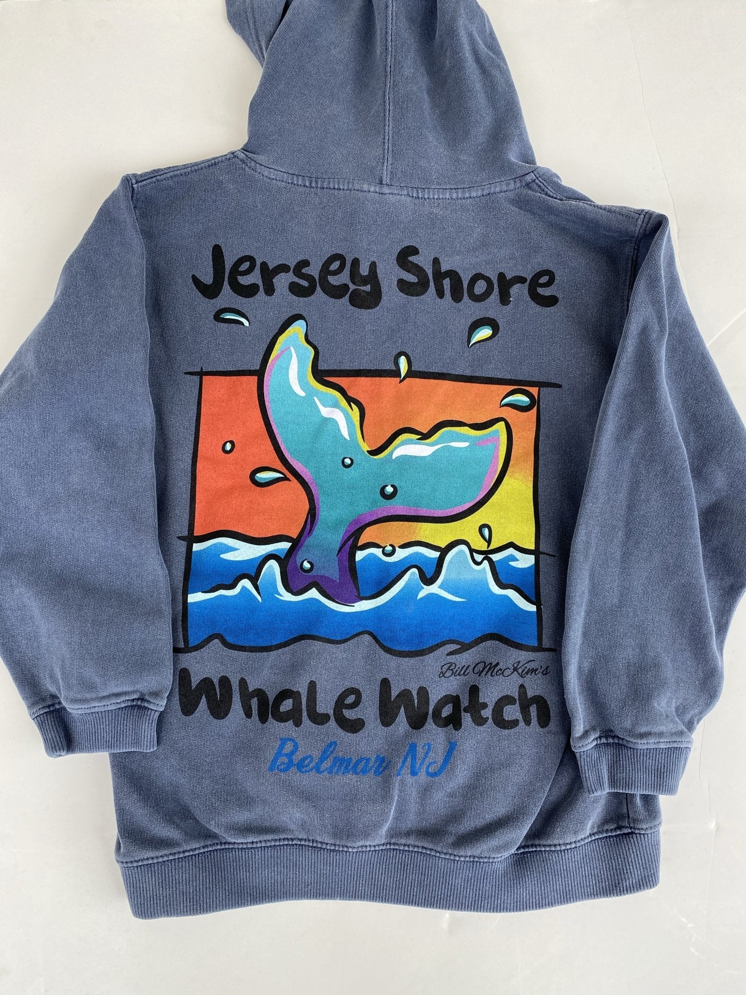 Child sized Jersey Shore Whale Watch Zipper Hooded Sweatshirt - Bill McKim Photography -Jersey Shore whale watch tours