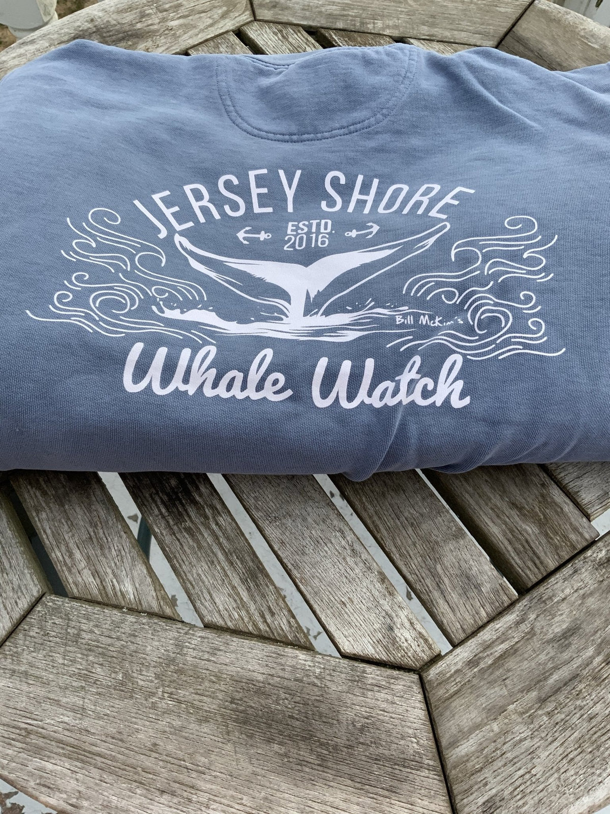Crew Neck Heavyweight Sweatshirt EST. 2016 DESIGN - Bill McKim Photography -Jersey Shore whale watch tours
