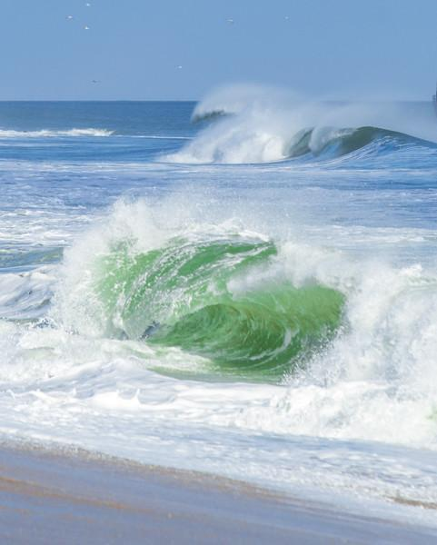 Emerald Surf Jersey Shore Artwork canvas print - Bill McKim Photography -Jersey Shore whale watch tours