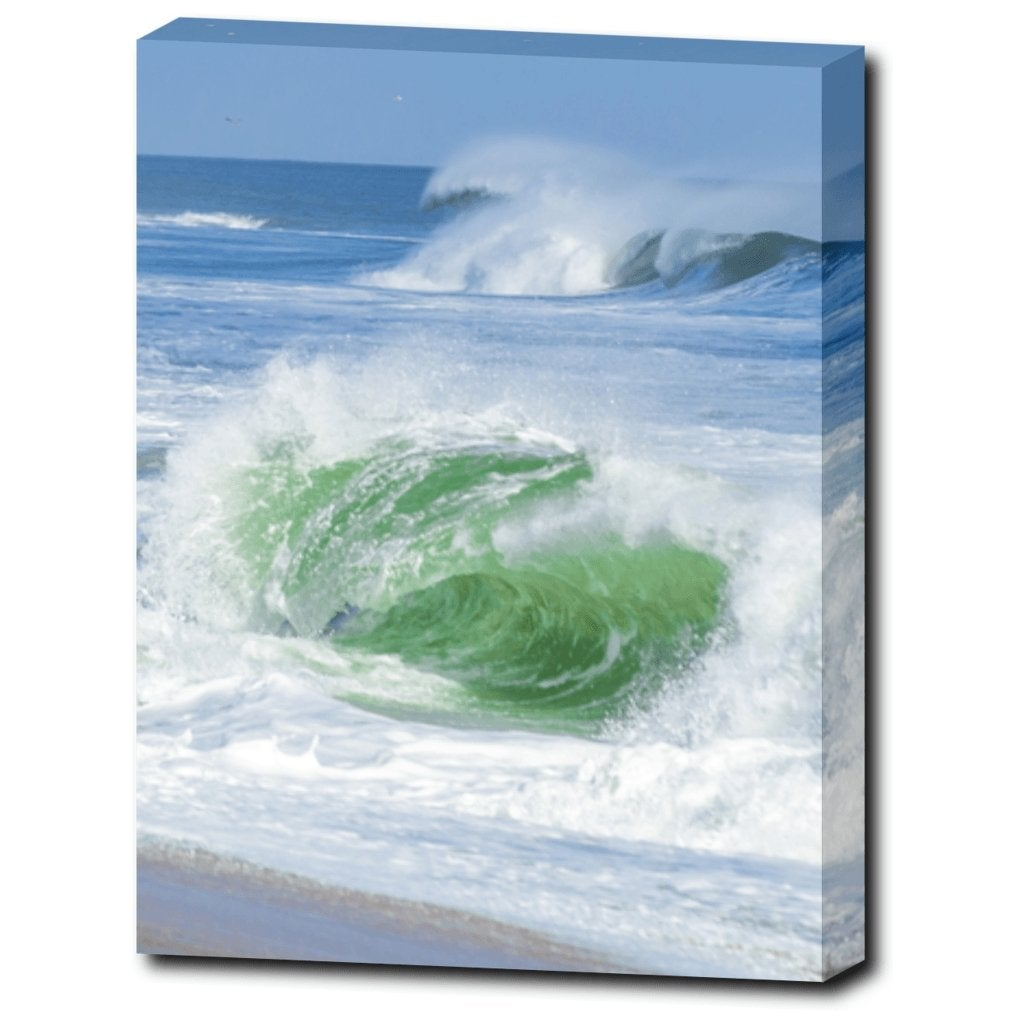Emerald Wave 12 x 16 Canvas Gallery Wrap - Bill McKim Photography -Jersey Shore whale watch tours