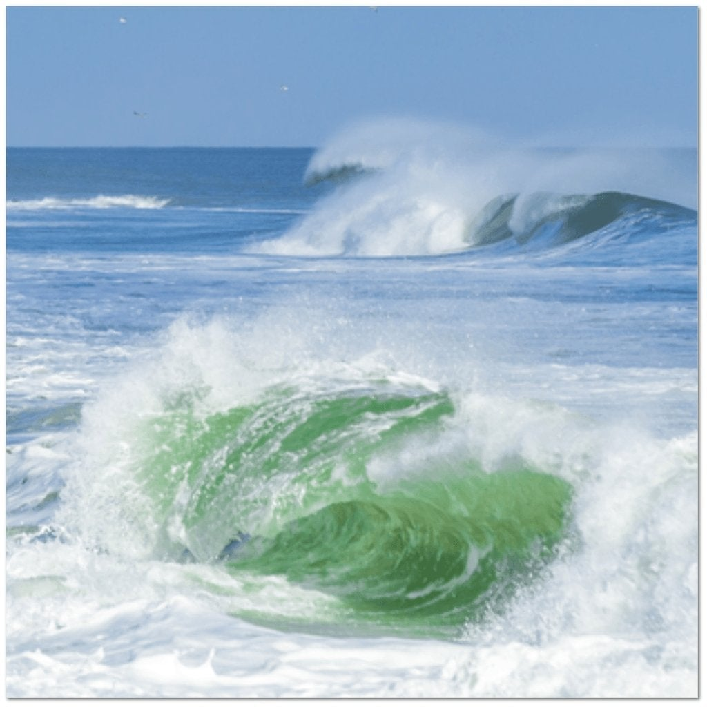 Emerald Wave 30 x 30 Canvas Gallery Wrap - Bill McKim Photography -Jersey Shore whale watch tours