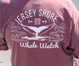 Est. 2016 Design Jersey Shore Whale Watch Heavyweight Sweatshirt - Bill McKim Photography -Jersey Shore whale watch tours