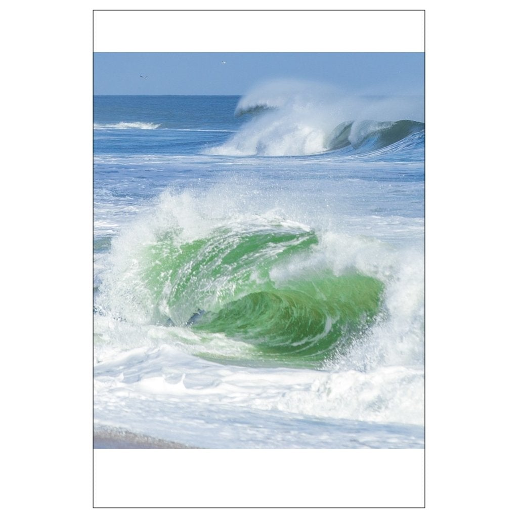 Flat Cards Green wave - Bill McKim Photography -Jersey Shore whale watch tours