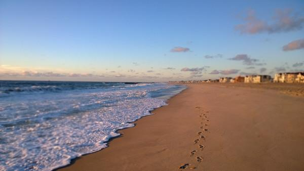 Footprints in the Sand - Bill McKim Photography -Jersey Shore whale watch tours