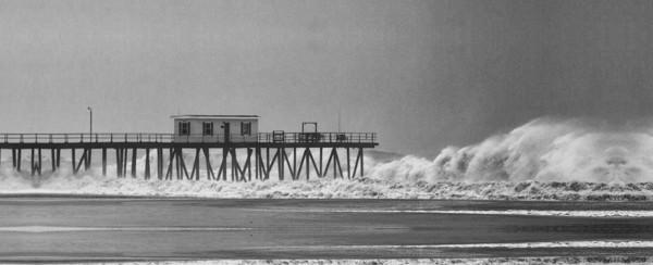 Hurricane Sandy hits Belmar Fishing Pier - Bill McKim Photography -Jersey Shore whale watch tours