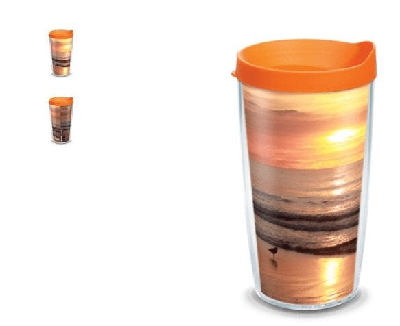 Jersey Shore Sunrise Mug 16 OZ American Made Insulated with Travel Lid - Bill McKim Photography -Jersey Shore whale watch tours