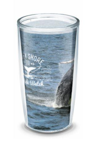 Jersey Shore Whale Watch 16oz tumbler with Travel lid - Bill McKim Photography -Jersey Shore whale watch tours