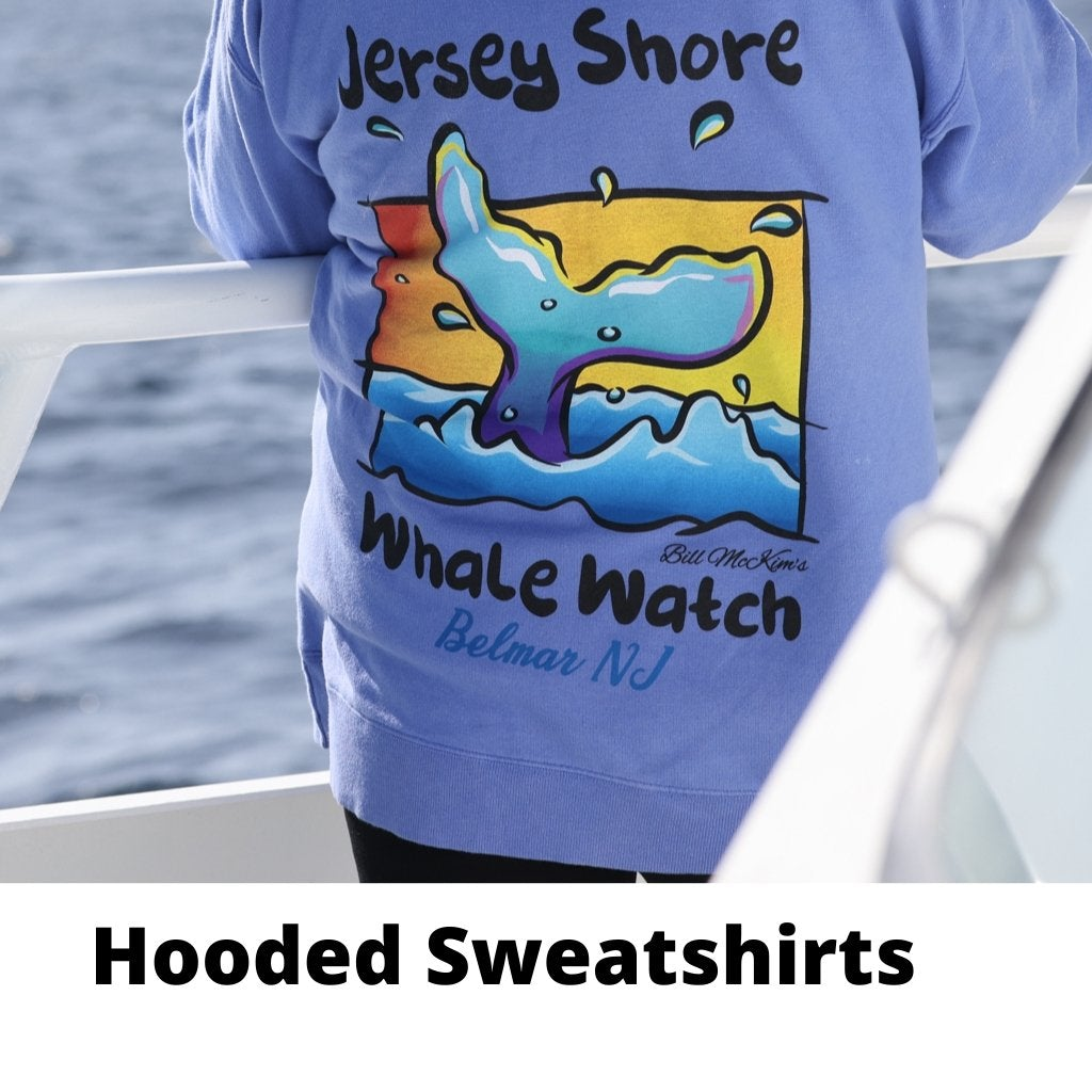 Jersey Shore Whale Watch Heavyweight Sweatshirt - Bill McKim Photography -Jersey Shore whale watch tours