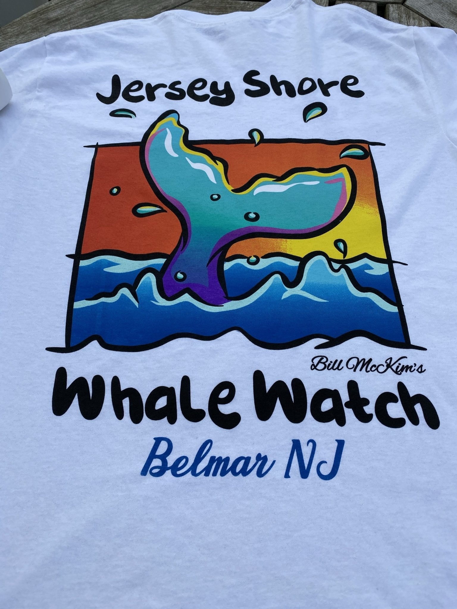 Jersey Shore Whale Watch T-shirt 2020 - Bill McKim Photography -Jersey Shore whale watch tours