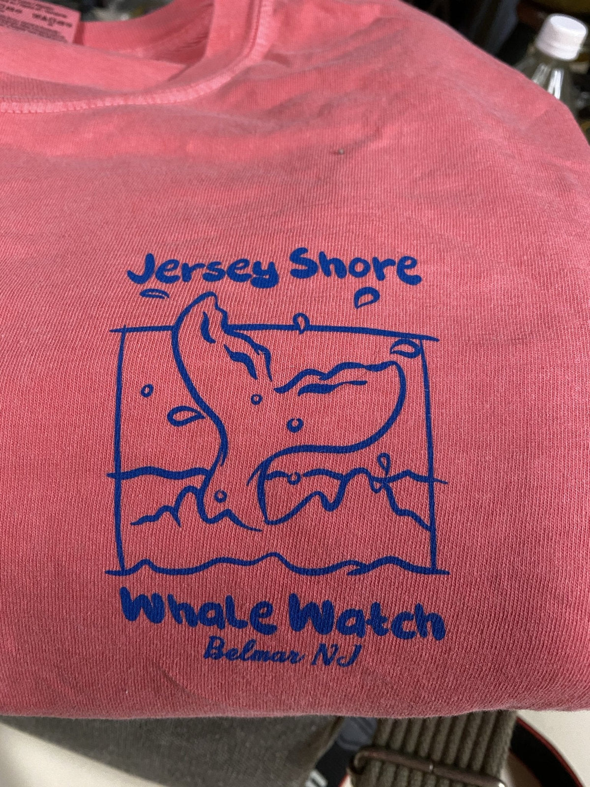 Jersey Shore Whale Watch Tshirt Hooded Long Sleeve - Bill McKim Photography -Jersey Shore whale watch tours