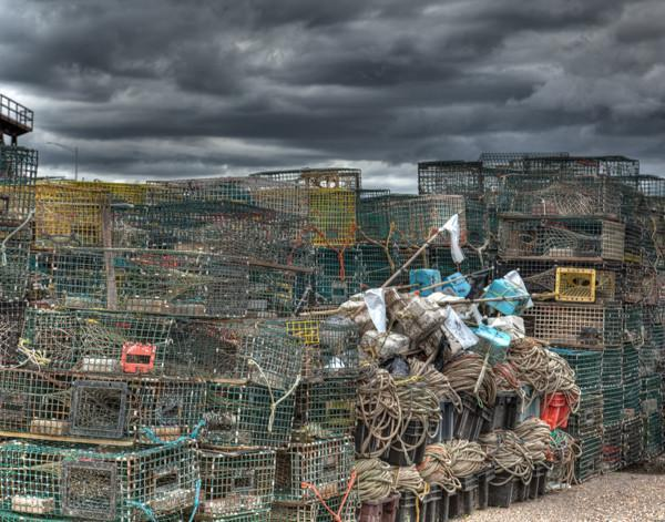 Lobster Traps - Bill McKim Photography -Jersey Shore whale watch tours