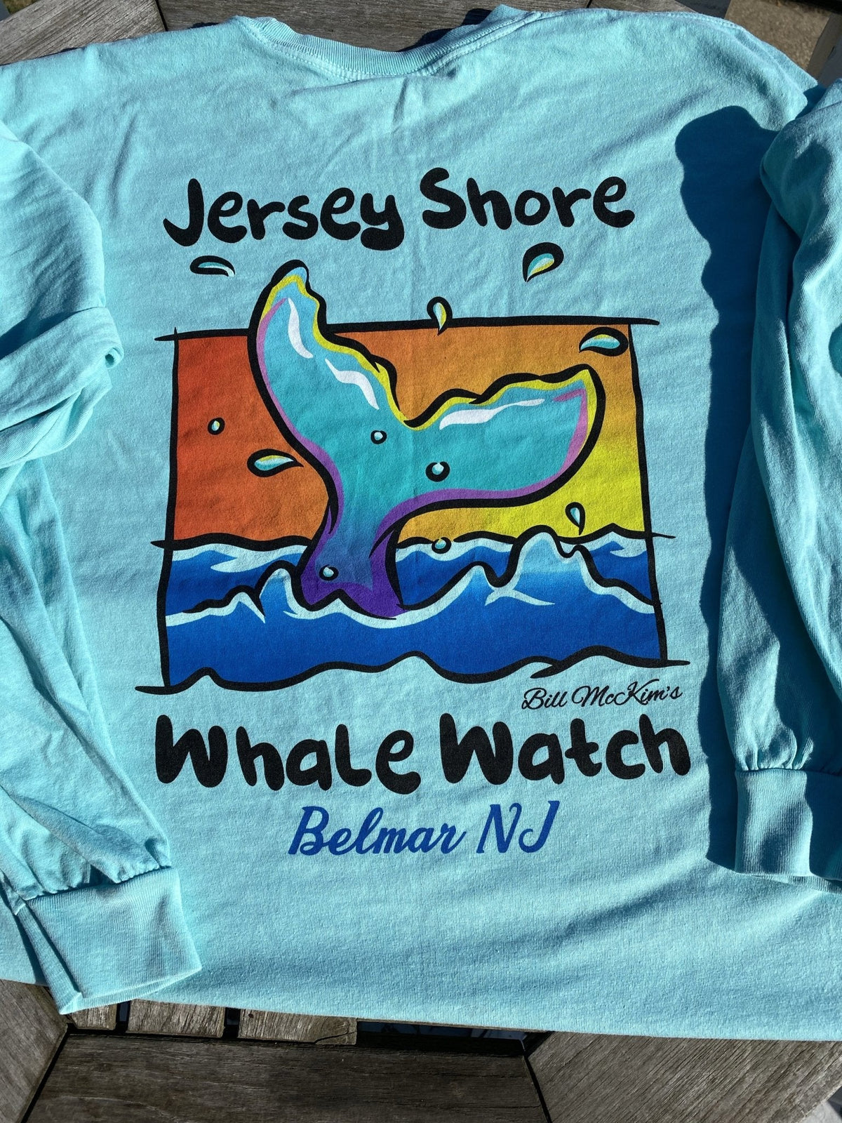 Long Sleeve Jersey Shore Whale Watch Tshirt Amazing Quality Preshrunk - Bill McKim Photography -Jersey Shore whale watch tours