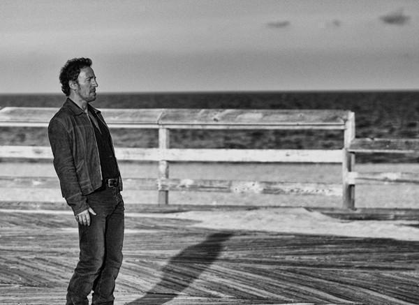 Metal Print Bruce Springsteen Lonesome Day Asbury Park 2002 - Bill McKim Photography -Jersey Shore whale watch tours