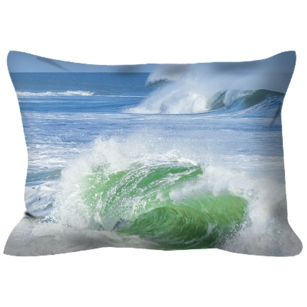 Outdoor Pillows - Bill McKim Photography -Jersey Shore whale watch tours