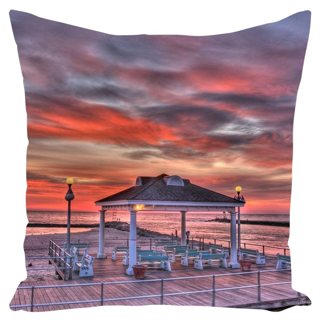 Outdoor Pillows Avon By The Sea Sunrise - Bill McKim Photography -Jersey Shore whale watch tours