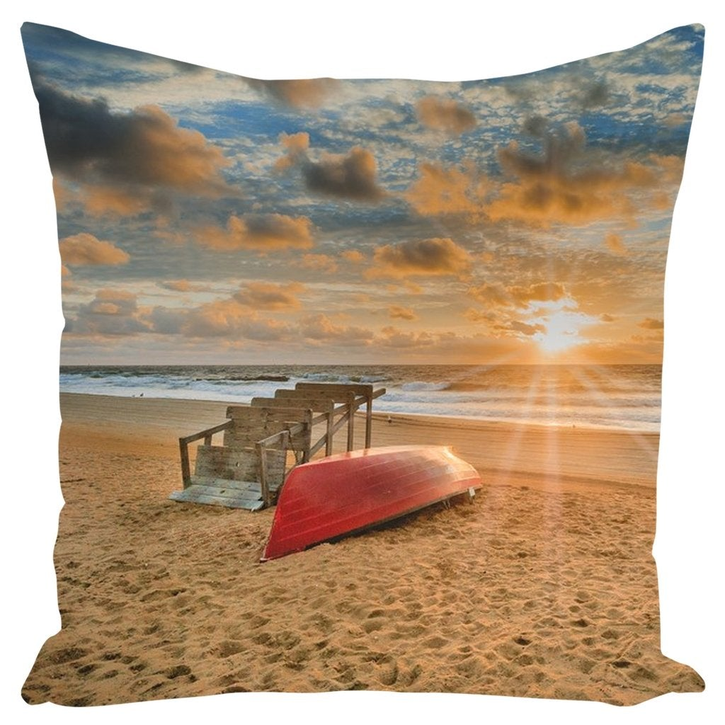 Outdoor Pillows Beach Sunrise - Bill McKim Photography -Jersey Shore whale watch tours