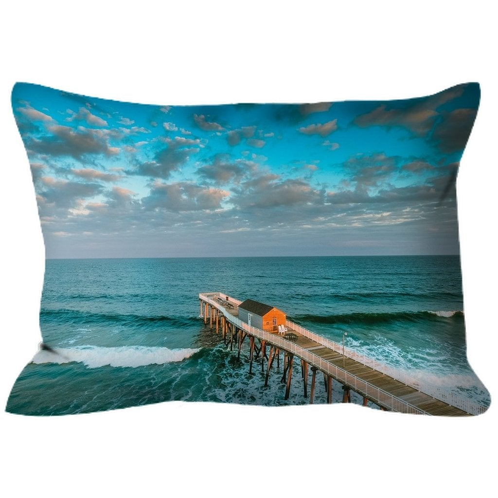 Outdoor Pillows Belmar Fishing Pier - Bill McKim Photography -Jersey Shore whale watch tours