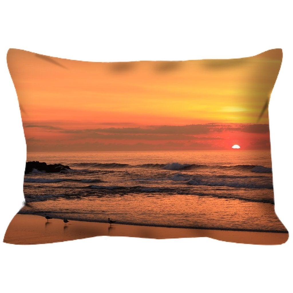 Outdoor Pillows Belmar Sunrise - Bill McKim Photography -Jersey Shore whale watch tours
