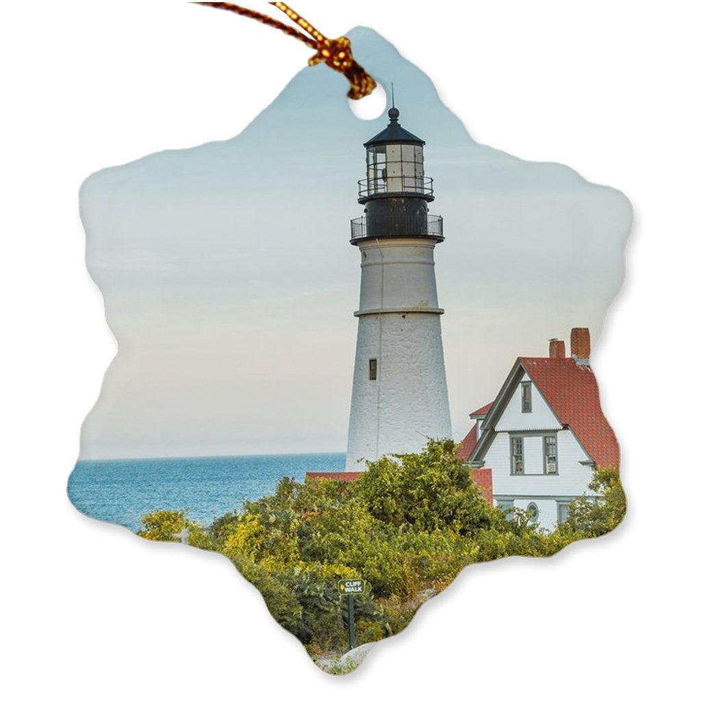 Porcelain Ornaments Maine Double Sided - Bill McKim Photography -Jersey Shore whale watch tours