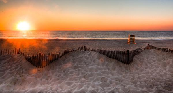 Sea Girt beach at Sunrise - Bill McKim Photography -Jersey Shore whale watch tours