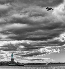 Stature of Liberty Space Shuttle Fly over - Bill McKim Photography -Jersey Shore whale watch tours