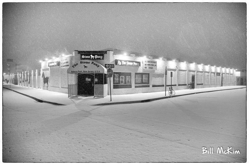 Stone Pony Asbury Park Snow Covered Artwork print - Bill McKim Photography -Jersey Shore whale watch tours