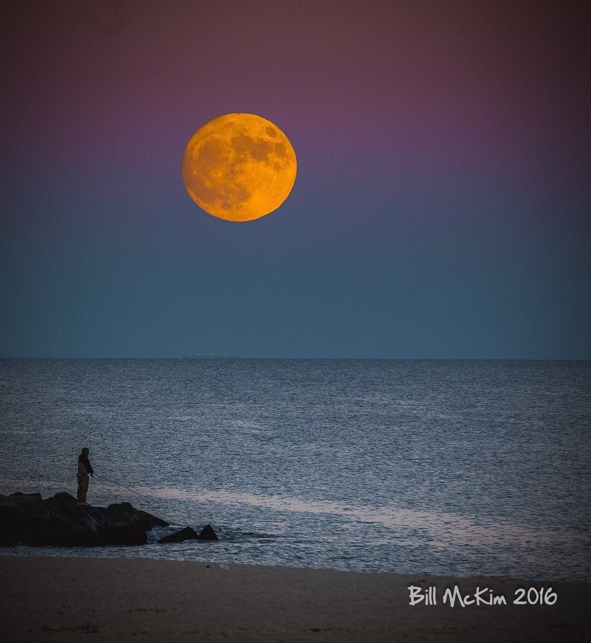 Super Moon 2016 - Bill McKim Photography -Jersey Shore whale watch tours