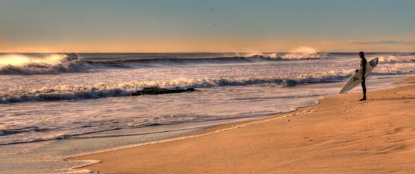 Surfing at Sunrise Belmar NJ - Bill McKim Photography -Jersey Shore whale watch tours