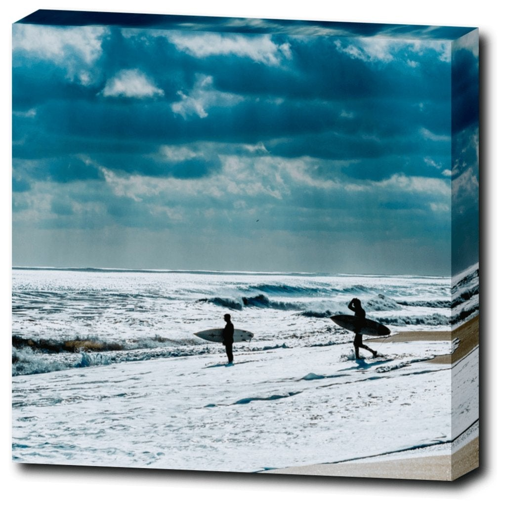 Surfing Jersey Canvas Gallery Wrap - Bill McKim Photography -Jersey Shore whale watch tours