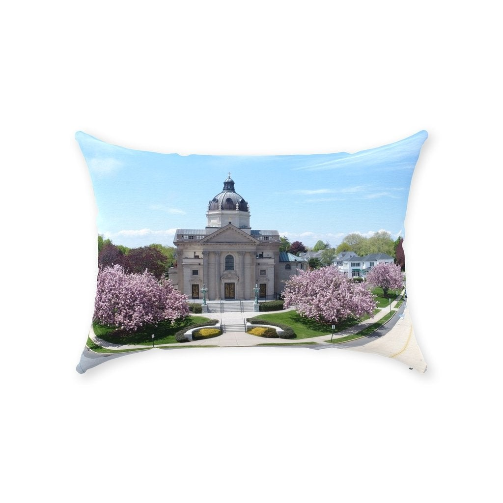 Throw Pillow Spring Lake NJ - Bill McKim Photography -Jersey Shore whale watch tours