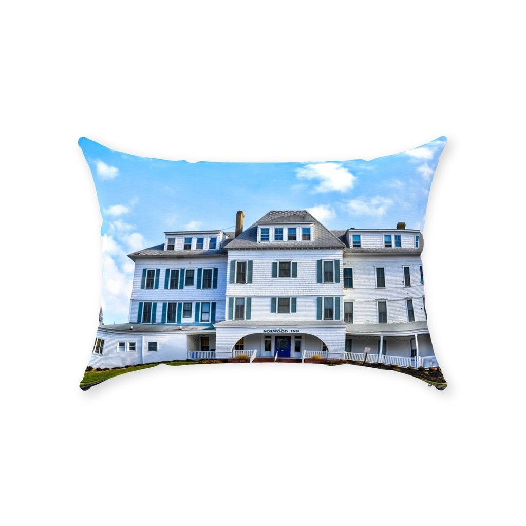 Throw Pillows Avon inn - Bill McKim Photography -Jersey Shore whale watch tours