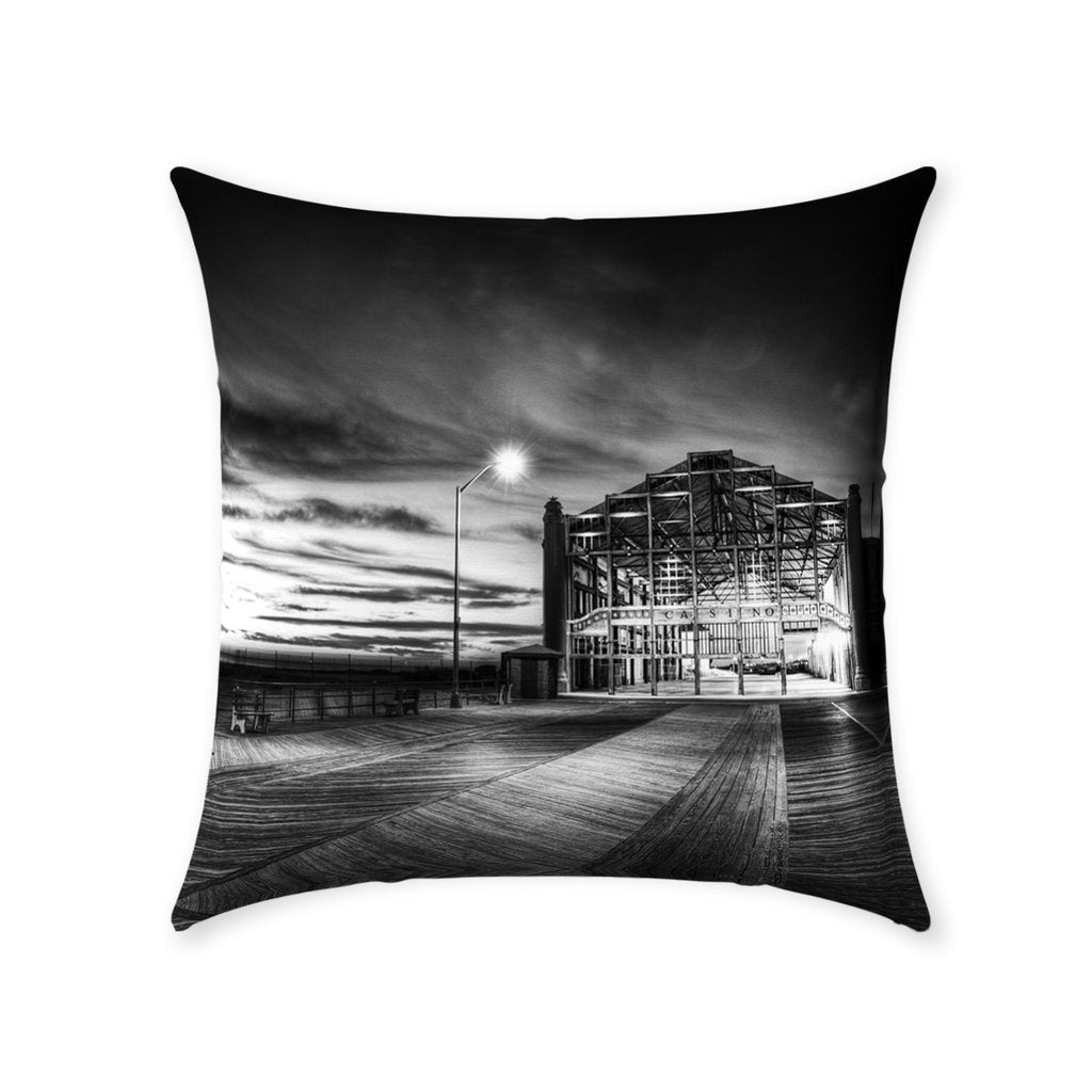 Throw Pillows Casino Asbury Park - Bill McKim Photography -Jersey Shore whale watch tours