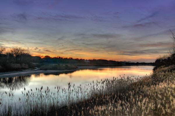 Wreck Pond Sea Girt Spring Lake Sunset canvas print - Bill McKim Photography -Jersey Shore whale watch tours