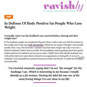 In Defense Of Body Positive Fat People Who Lose Weight