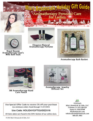 Mia's Botanicals Holiday Gift Guide 2016 - and Save!