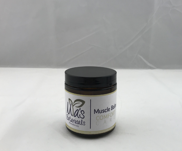 Aromatherapy Muscle Balm with organic Aloe (4 oz.)