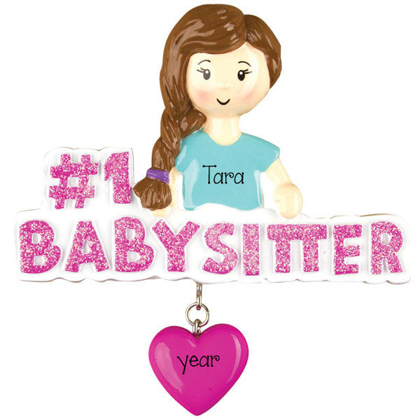 Personalized #1 BABYSITTER~Christmas Ornament