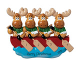 MOOSE Family of 4~Personalized Christmas Ornament