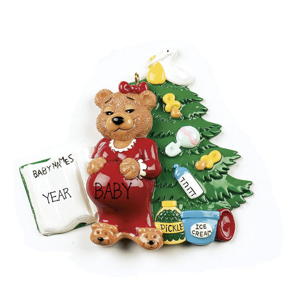 EXPECTING MOMMA BEAR ORNAMENT / MY PERSONALIZED ORNAMENTS