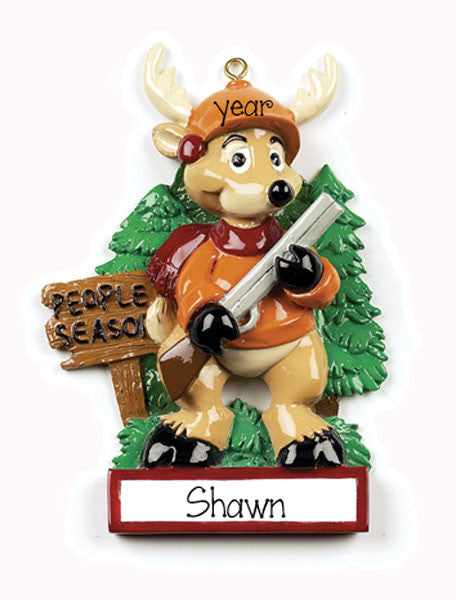 DEER HUNTER/Personalized Ornament